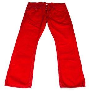 True Religion Red Straight Jeans Sz 44